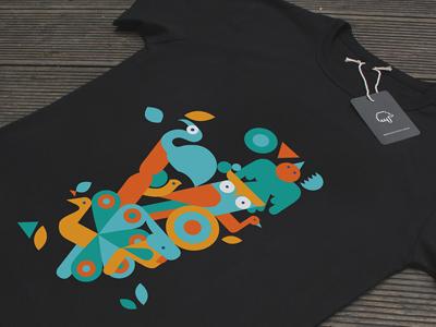 Bird T-Shirt design vector illustration t-shirt flat