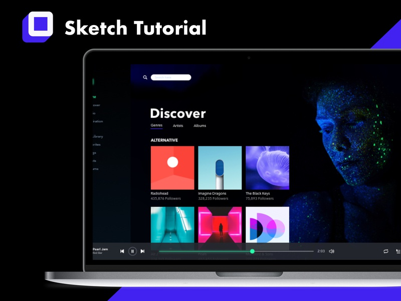 How to Create a Spotify-inspired PrototypeTutorial ux tutorial prototype motion design ui anima sketch