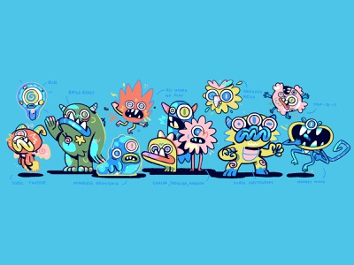 40 Jinx branding monsters design radio character illustration