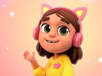 Nick Noggin Big Heart characterdesign noggin nickelodeon character maya cgi 3d