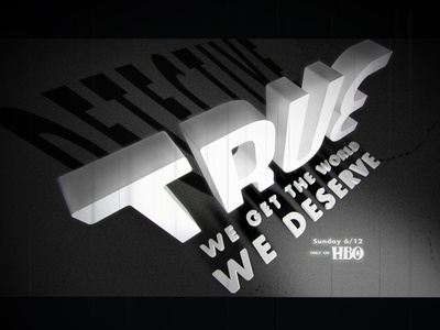 True Detectives 3d typography movies detective true series c4d bmovies lettering