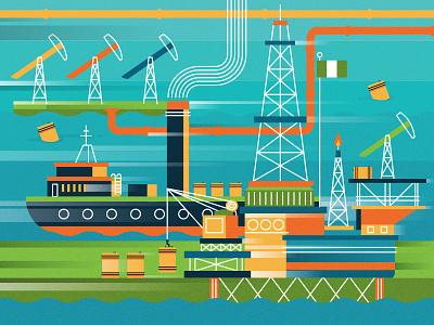 Monocle  vector colour cargoship news oil infographic ships moncole editorial