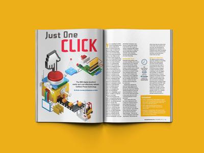 IBM machines editorial magazine internet tech 3d ibm c4d