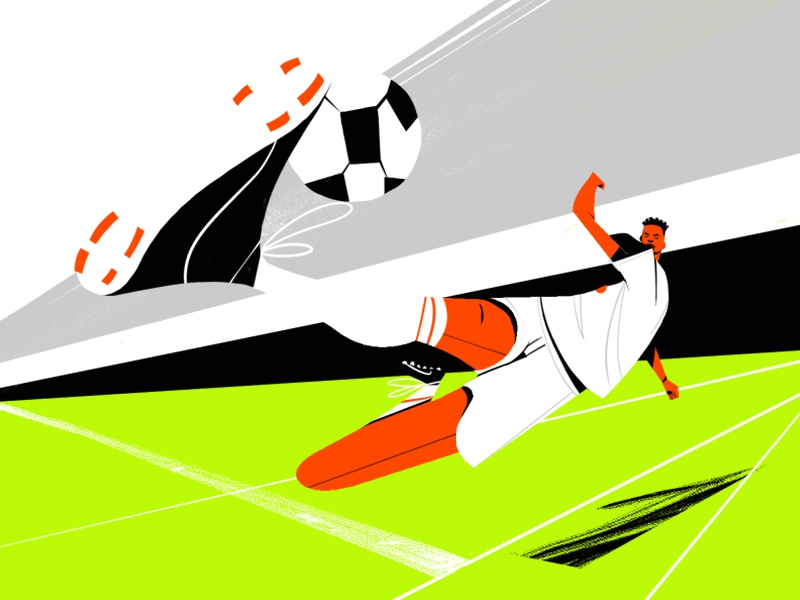 GOOOOOAAAAAALLLLLLL! character texture handdrawn player soccer illustration football