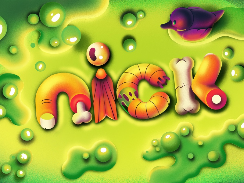 Nickelodeon Halloween idents slimy goo duck motion titles halloween animation nickelodeon