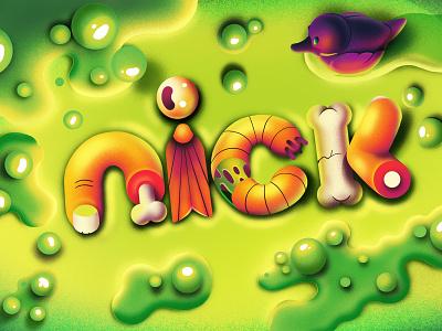 Nickelodeon Halloween idents slimy goo duck motion titles halloween animation nickelodeon