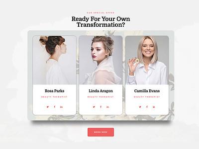 Beauty Saloon Team minimalist envatomarket envato guadalajara webdesig ui  ux ux ui floral beauty salon elementor-pro
