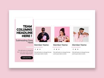 Team columns