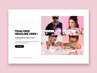 Team Grid Template Block