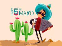 5 de Mayo character