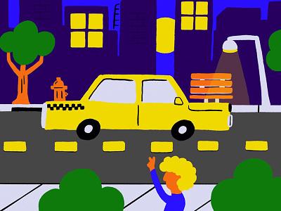 Yo Taxi ipad procreate illustration
