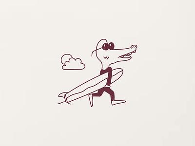 beach bound boy