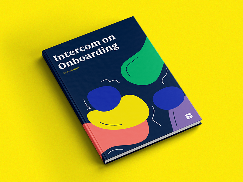 Intercom On Onboarding onboarding tech editorial book design illustration content intercom