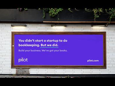 Pilot Billboards advertisement campaign tech bookkeeping billboard