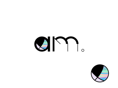 AM icon visual design ux design logo branding