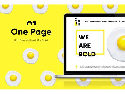 Bold Website  visual design ui ux responsive website design