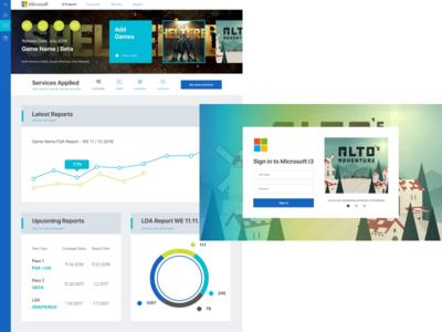 Microsoft Dashboard webdesign design interface ui uxdesign