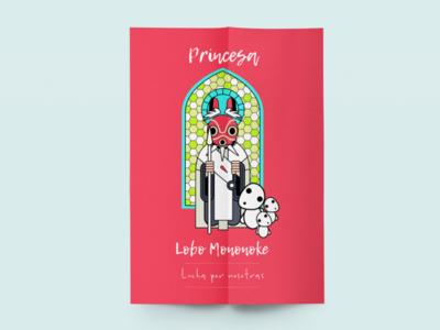 International Women's Day design illustration mononokeprincess mononoke