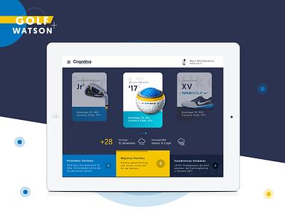 Golf + Watson visualdesign ui ux