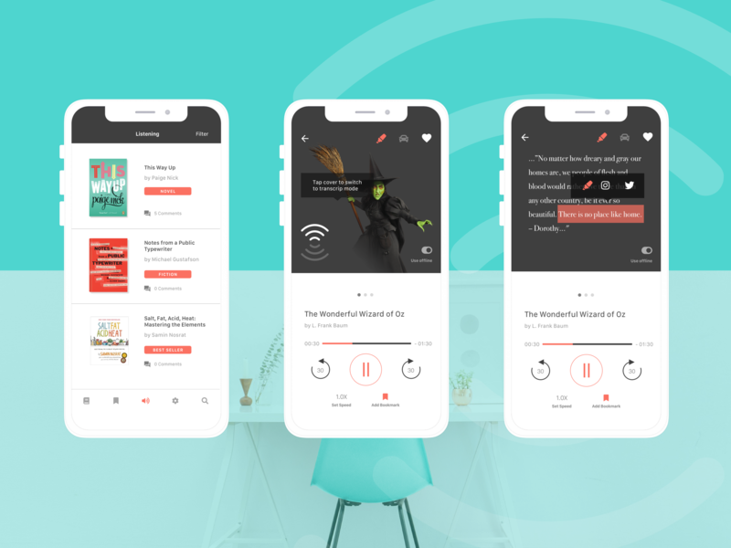 Context Audio Books App branding visual design ui ux interface sketch design
