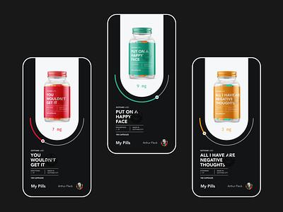 Take your Pill 2 health mental batman jokermovie joker visual design interface ux ui design