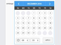 Calendar design for jQuery datetime picker