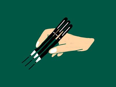 Sign Here dropbox texture illustration hand signature