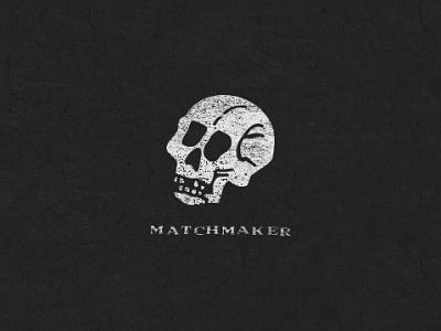Matchmaker illustration logo reaper texture skull matchbook