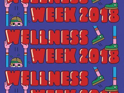 Wellness Week 2018 illustration health dropbox wellness week