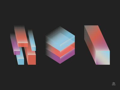EPD HW 19 grid gradient posters branding hack week dropbox