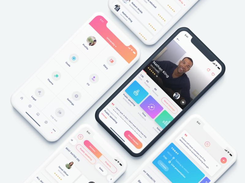 Mentoring app by Bojan Novaković on Dribbble