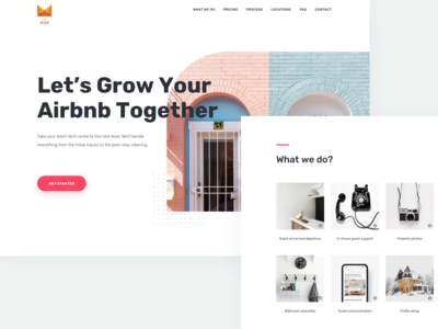 Landing page for house rent owners