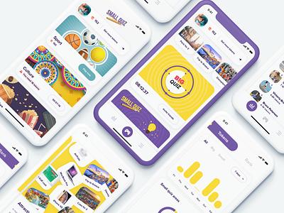 Quiz app gaming app showcase quizzes quizz quiz mobile iphone x ios graph gameplay game app colors app app ui