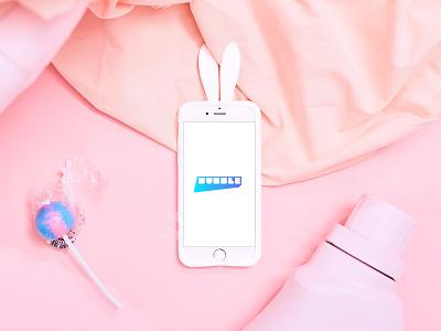 Laundry Day flat lay bubble mockup app flatlay styling