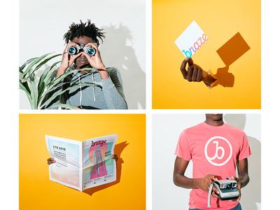 Brazin' braze branding collateral styling set design photography