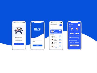 Fuse - Carpooling App for Students app-design transit car ui-design ios app carpooling fuse
