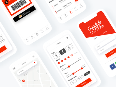 Goodlife Fitness App Redesign ui-design app-design app ios exercise workout goodlife fitness redesign
