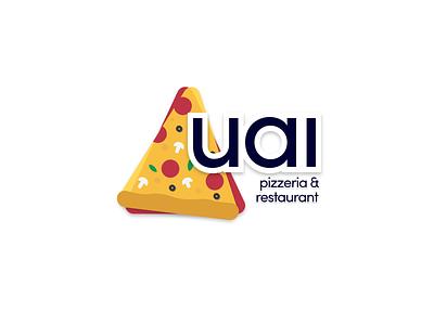 Uai Pizzeria & Restaurant restaurant branding logo-design pizza logo restaurant pizzeria pizza