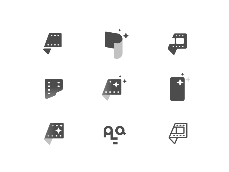 App Icon Iterations edit video logo film letter figma p icon app