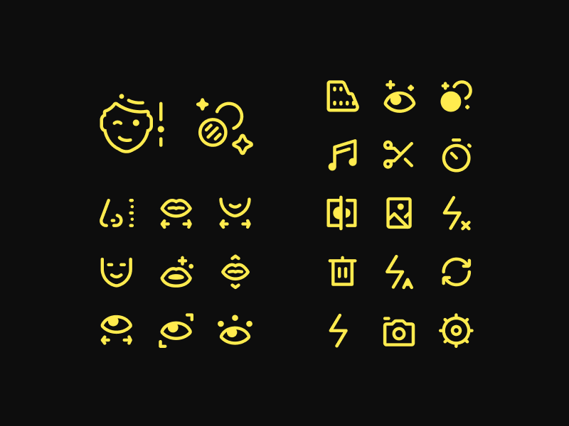 Tiny Icons for a Video Editing App app figma set icons