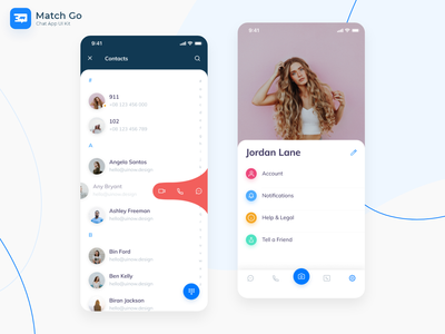 Match Go – Chat App UI Kit messenger mockup ịphone message animation music app ui kit ui now design chat messages light theme dark theme