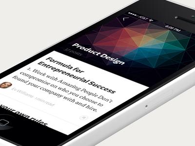 Collection medium iphone app concept collection ios