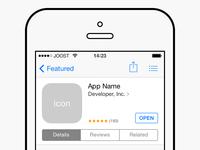 App Store PSD
