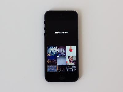 WeTransfer for iPhone wetransfer iphone upload photos videos images send share we transfer