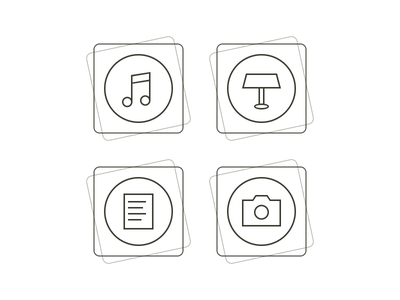 File Stacks file stacks stack folder icon glyph music keynote presentation document text camera