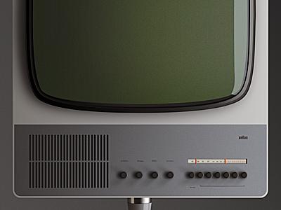 Braun FS 80 industrial design object television tv dieter rams 80 fs braun