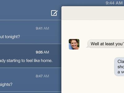iMessage concept imessage message ios concept interface chat ui