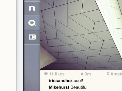 Sidebar - Instagram concept instagram concept ios iphone app photos