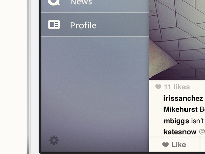 Full sidebar - Instagram concept instagram concept ios iphone app photos