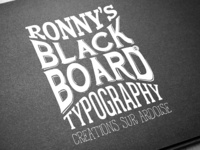 My Blackboard Typography inspirations & creations
